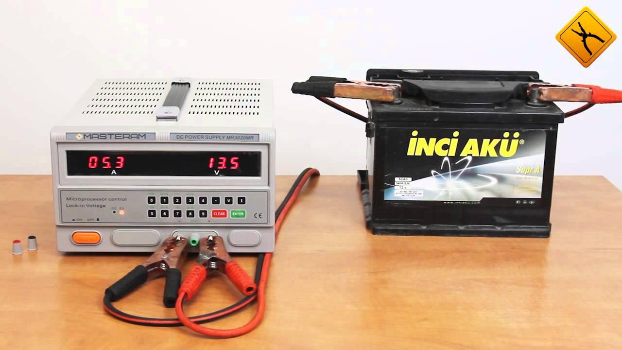 Зарядка автомобильного аккумулятора с помощью блока питания