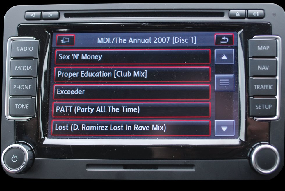 Music from iPod in the car