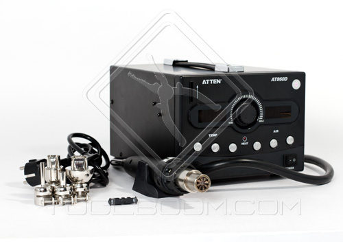 ATTEN AT860D Hot Air Rework Station Package Content