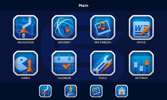 Car Solutions navigation box menu