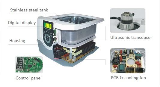 Ultrasonic cleaner design