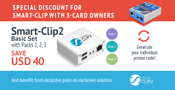 Smart-Clip2 for Smart-Clip with S-Card owners