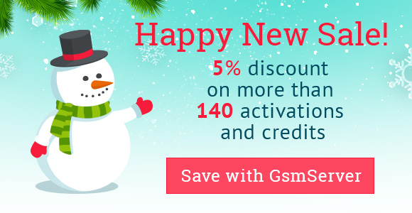 GsmServer Happy New Sale