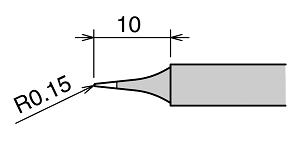 Goot RX-80HRT-2CD Soldering Iron Tip Bevel Type for Goot RX-802AS Solder Station