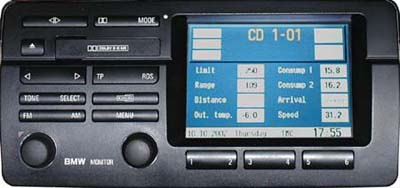 BMW 3:4 Navigation Head Unit
