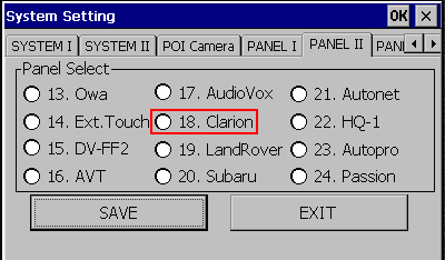 CS9100 navigation box configuration