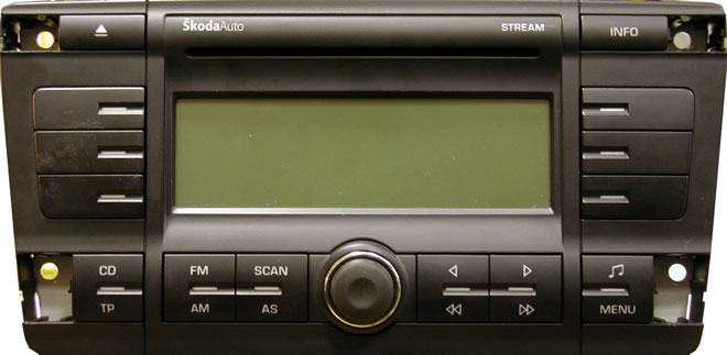 Skoda Strean Head Unit