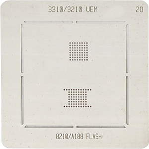 BGA-трафарет 3310/3210 UEM 8210/A188 FLASH