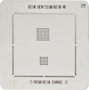 BGA-трафарет 8210 UEM/3310/8210 RF 3110/8850/821- CHARGE IC