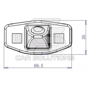 Honda Accord reverse camera dimensions