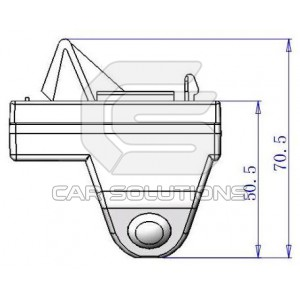 Land Cruiser Rear view camera dimensions