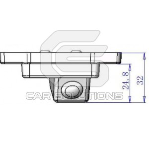 Land Cruiser Prado reverse camera dimensions