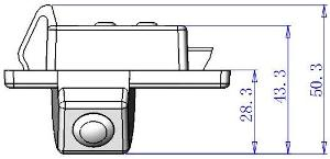 Dimensions of Rear View Camera for Nissan