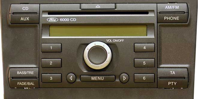 6000CD Ford Head Unit