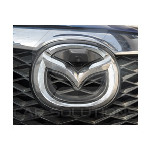 Mazda camera installed under the badge