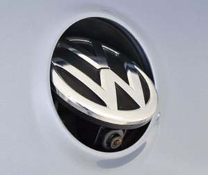 Volkswagen badge camera