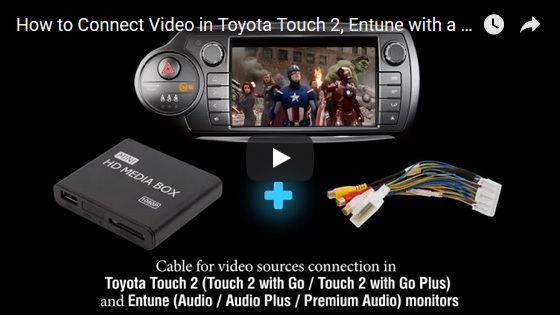 av videokabel f r monitore toyota touch 2 mit go plus entune audio plus ebay. Black Bedroom Furniture Sets. Home Design Ideas