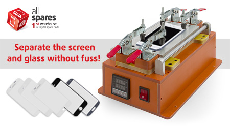 Separate the screen and glass without fuss!