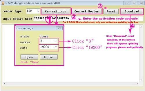 R-Sim Mini+ / Mini Updating Code