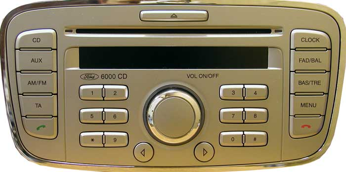 автомагнитола ford 6000 cd инструкция