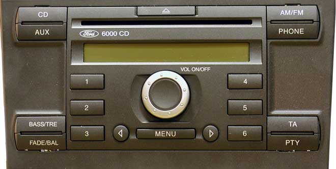 oem car radio stereo for ford 6000 cd mp3 usb. Black Bedroom Furniture Sets. Home Design Ideas