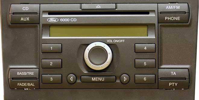 oem car radio stereo for ford 6000 cd mp3 usb. Black Bedroom Furniture Sets. Home Design Ideas