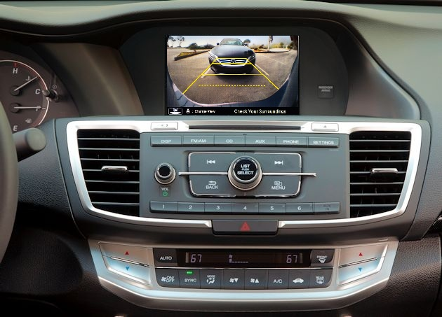 Honda rear view camera image 2