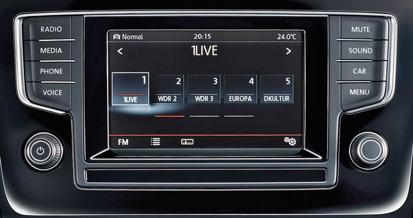 Volkswagen Golf head unit
