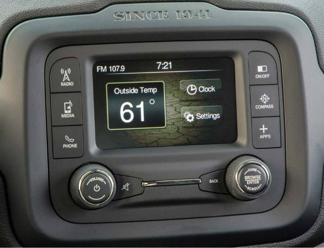 Jeep Renegade head unit