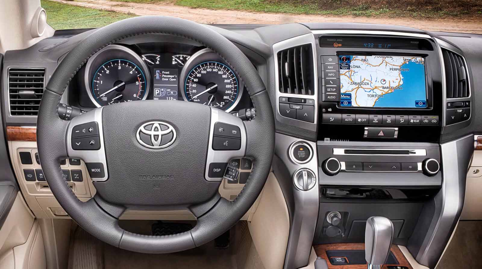 Toyota Land Cruiser head unit