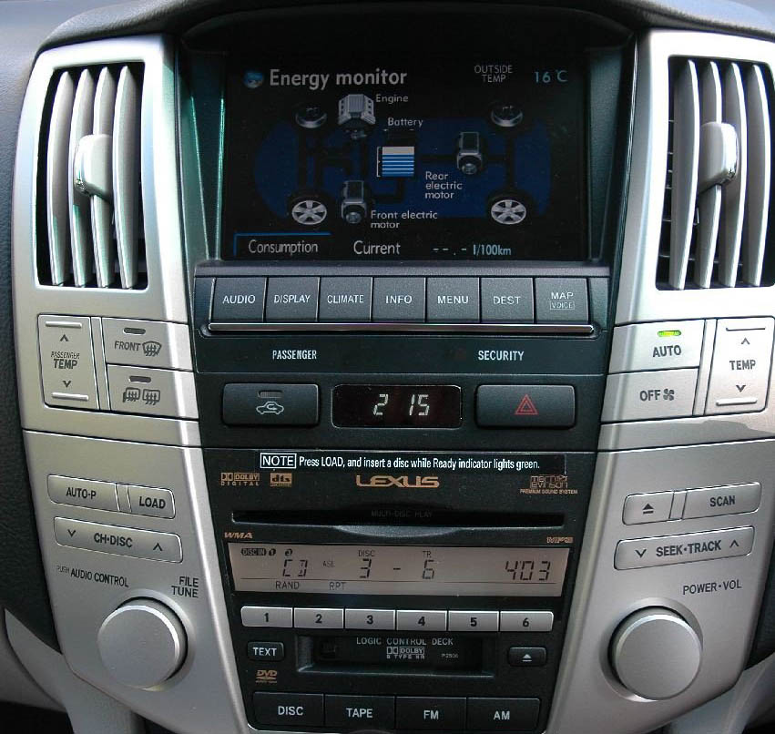 Lexus RX head unit