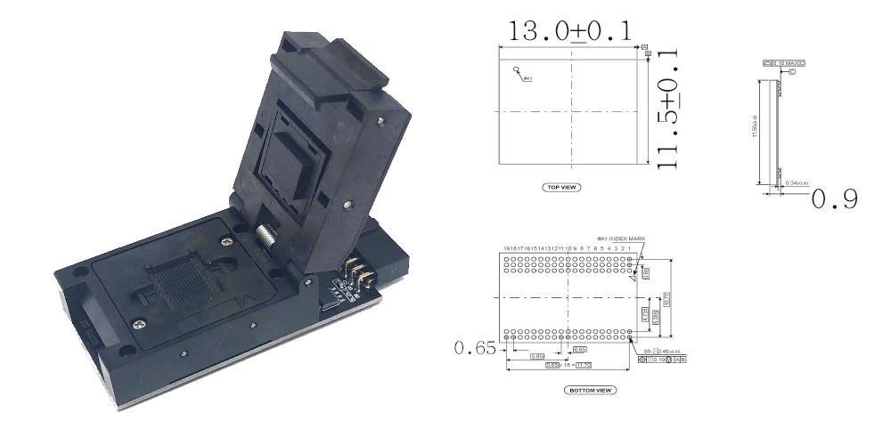 BGA-95 Socket Adapter