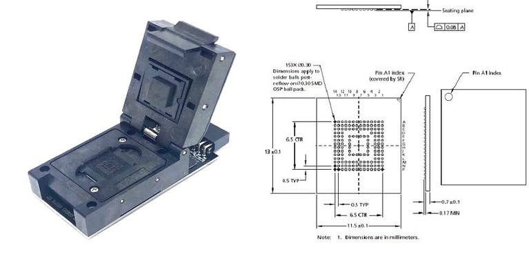 Z3X Easy-Jtag Plus UFS BGA-153 Socket Adapter
