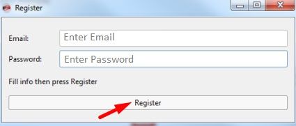 Enter Email & Password