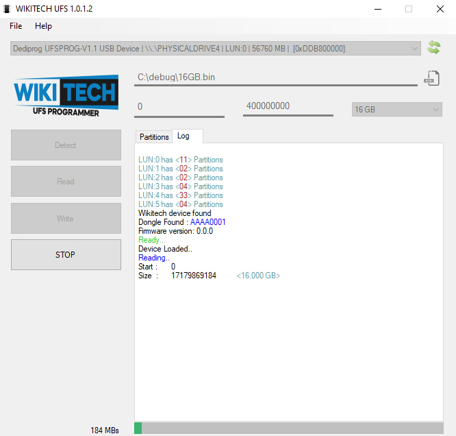 Reading all LUN with Wikitech software