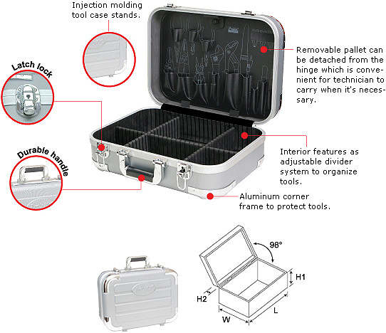 Tool Case Pro'sKit TC-2009 with Pallet 1PK-2009