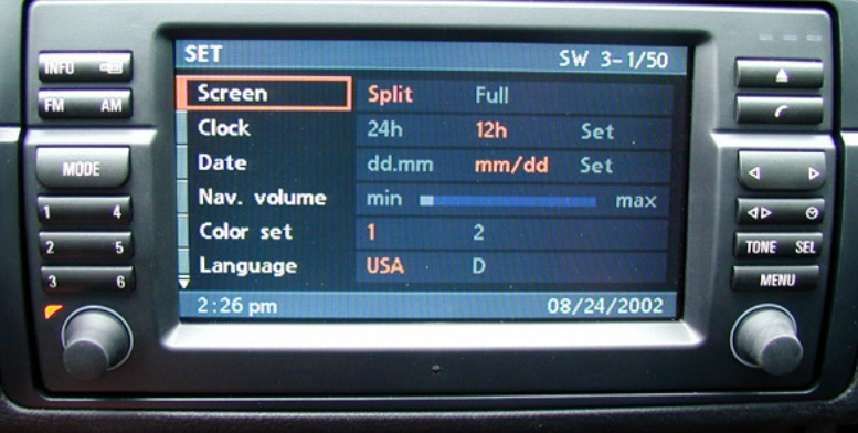 BMW E46 16:9 Navigation