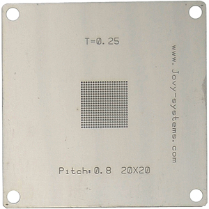 Pitch: 0,8/T=0,25/20x20