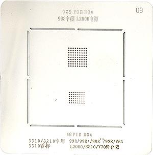 BGA-трафарет 998 MF/L2000 UEM 3310/3210 FLASH 998/V66/V70 RAM