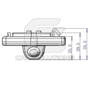 Honda Accord reverse camera dimensions