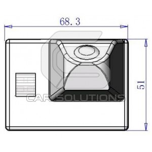 Land Cruiser Rear view camera dimensions