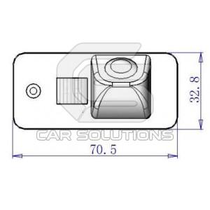 Размеры камеры для Audi Q7