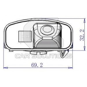 Honda CR-V reverse camera dimensions