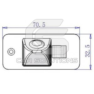 Audi A4/A6 reverse camera dimensions