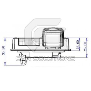 Nissan Teana reverse camera dimensions