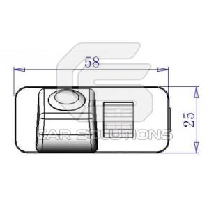 Размеры камеры для  Ford Mondeo Ghia