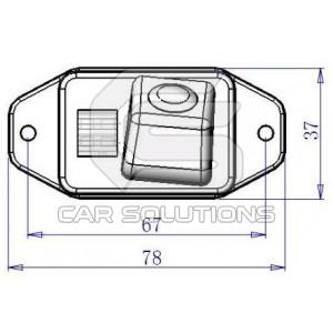 Land Cruiser Prado reverse camera dimensions