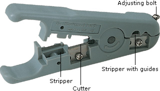 Wire stripper for stripping cables