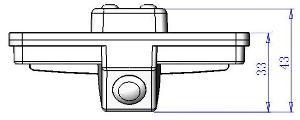 Размеры камеры заднего вида для Subaru Forester