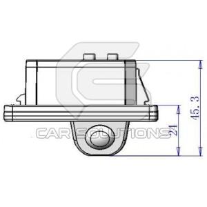 BMW reverse camera dimensions